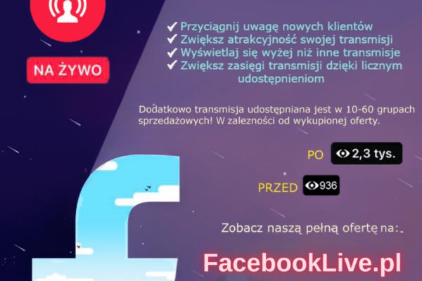 Facebook Live - Widzowie live - oglądający transmisje facebook na zywo
